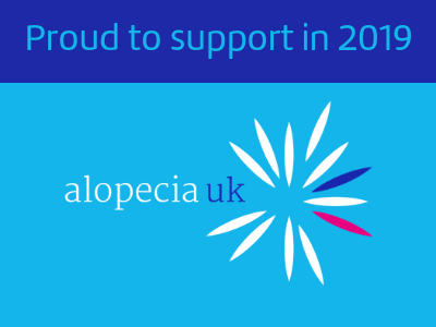 Proud to support Alopecia UK 2019