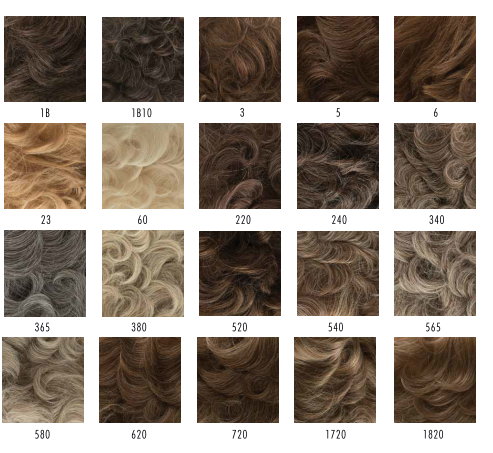 male wig colour chart