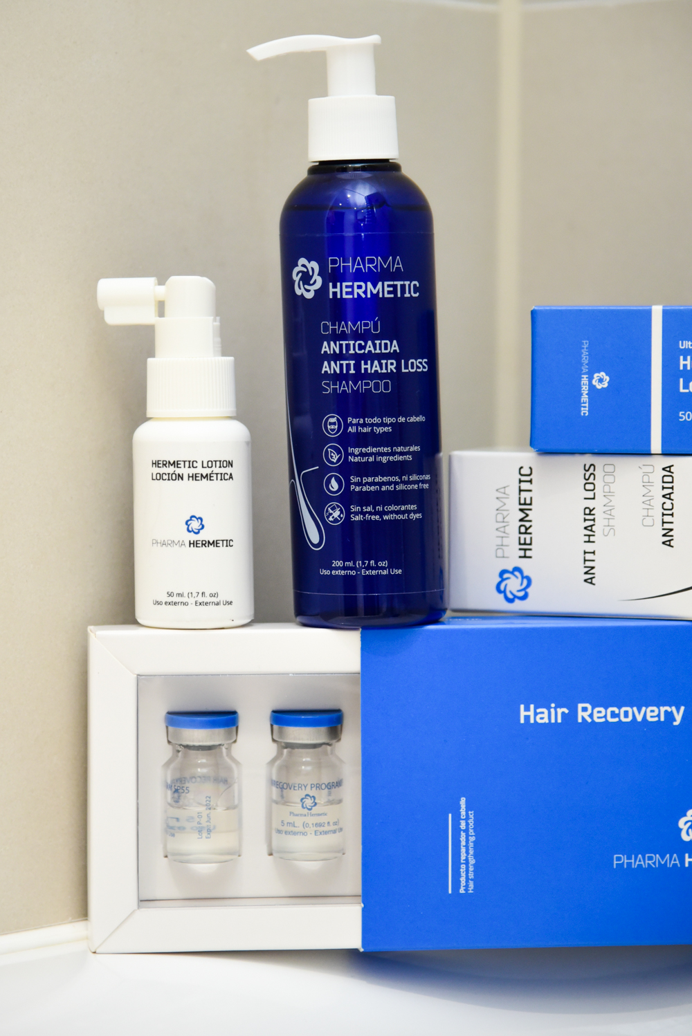 Pharma Hermetic Home and clinic based cosmetic treatments for hair loss